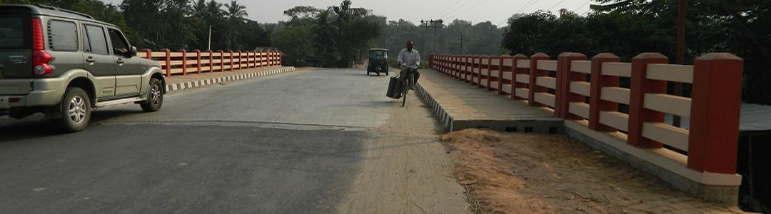 R.C.C BRIDGE Over Local Stream (Nagicherra) at Ch.4.4K.m on Jogendranagar to Joumpaijala Road.